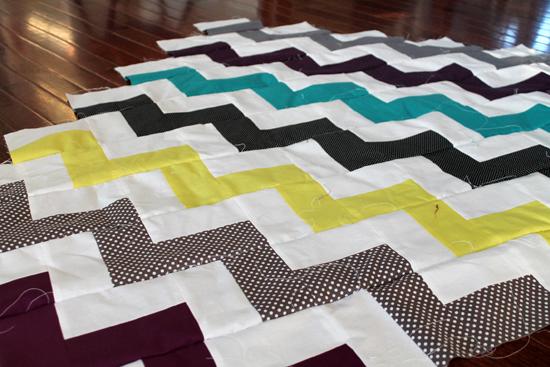chevron | an Art School Dropout's life : how to make a chevron quilt - Adamdwight.com