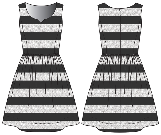 v notch dress