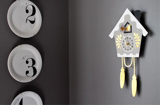 Gilded Faux Cuckoo Clock by Jessee M for Silhouette America {an Art School Dropout's life}