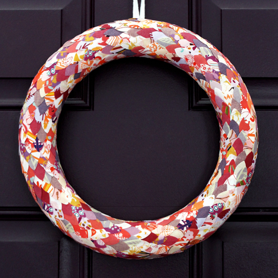 Clean Cut Fabric Petal Wreath by Jessee Maloney for Silhouette America {an Art School Dropout's life}
