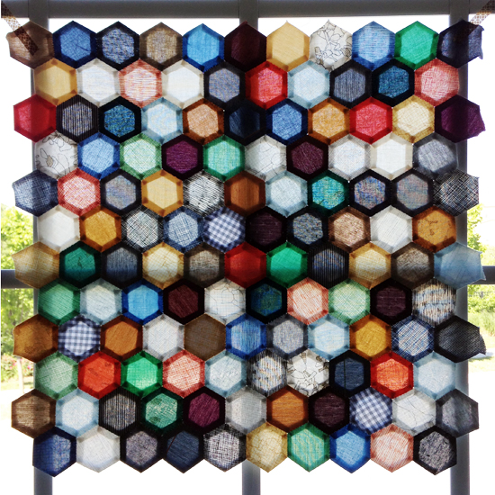 """My """"Carolyn Friedlander's Favorites"""" Quilted EPP Hexie Pillow {an Art School Dropout's life}"""
