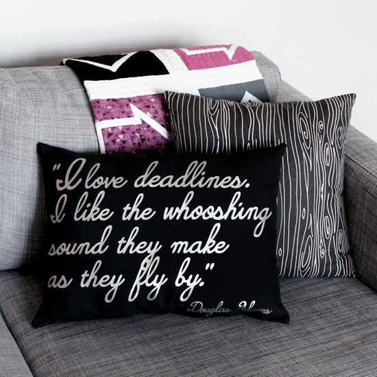 Custom Quote Pillow by Jessee M for Silhouette America {an Art School Dropout's life}