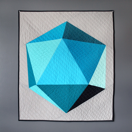 $175.00  Icosahedron Baby Quilt - Blues & Grays {an Art School Dropout's life}