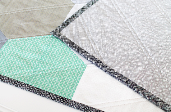 $195.00  Hexagon Baby Quilt - Mint, Gray, Tan & White {an Art School dropout's life}