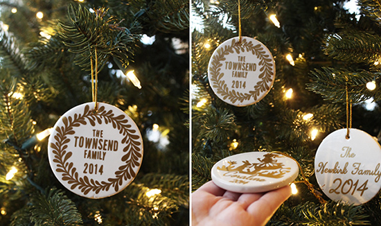 Personalized Ceramic Ornaments by Jessee M for Silhouette America {an Art School Dropout's life}