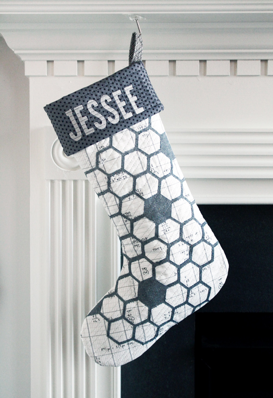 My Hexagon Stocking Project for Silhouette America {an Art School Dropout's life}