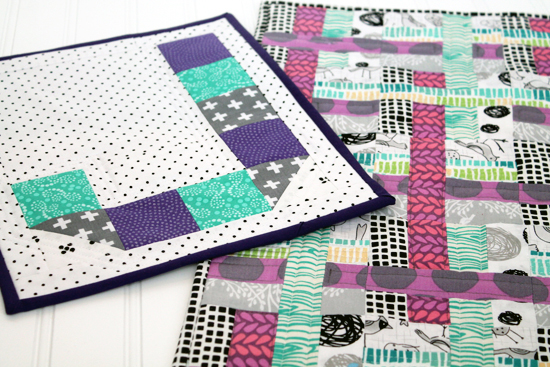 Schnitzel & Boo Mini Quilt Swap Round 3: The Quilt I Received {an Art School Dropout's life}