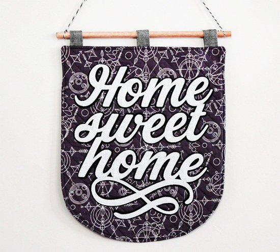 Appliqued Home Sweet Home Banner for Silhouette America by Jessee M {an Art School Dropout's life}