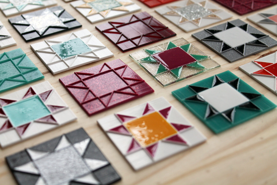 Adventures in Casting: Quilty Necklaces {an Art School Dropout's life} #quilt #necklkace #patchwork #jewelry