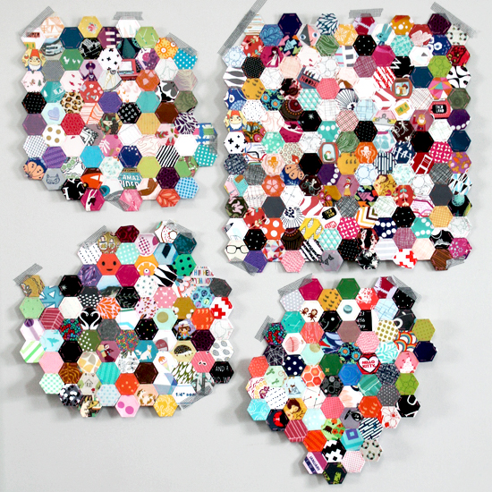 WIP: An Update On My Crazy Scrap Busting Rainbow Hexie Project {an Art School Dropout's life} #epp #englishpaperpiecing
