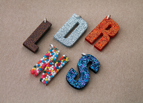 Shop Update: Custom Letter Charms & Hexie Necklaces {an Art School Dropout's life}