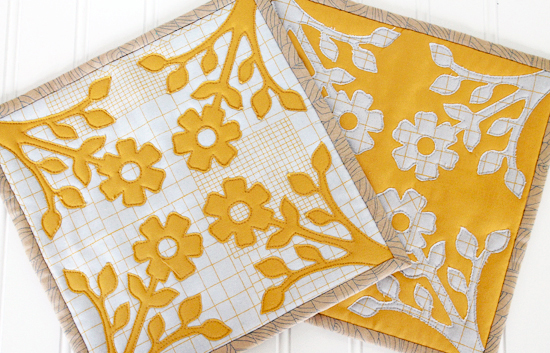 Spring Fling Blog Hop with Sizzix ; Appliqued Flower Trivets {an Art School Dropout's life}