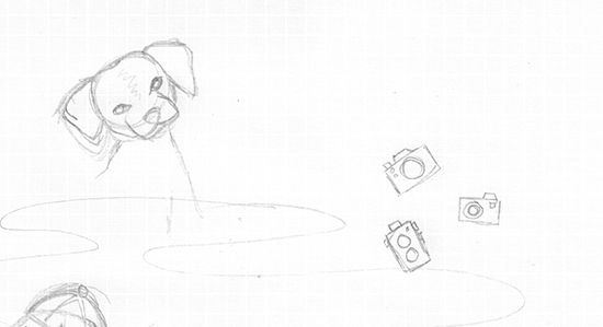 justtwowords_dogcamera_sketch