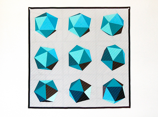 Spinning Icosahedron Quilt {an Art School Dropout's life}