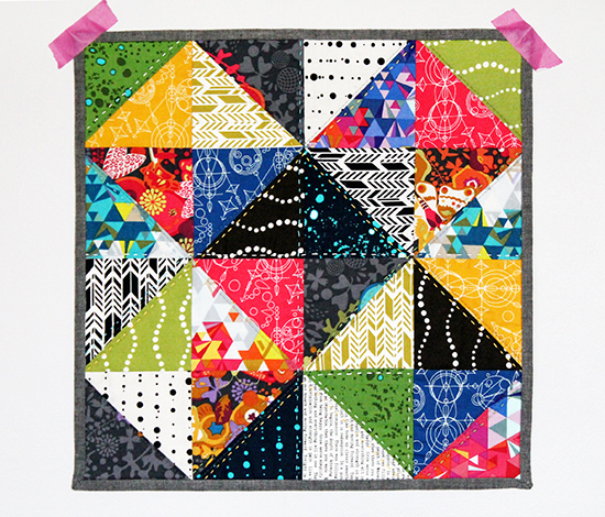 Tutorial: A 30 Minute Half Square Triangle Mini Quilt Top for Sizzix by Jessee Maloney