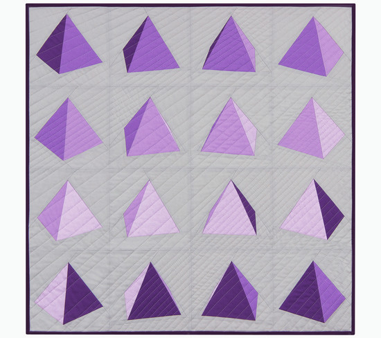Spinning Pyramid Quilt Pattern for Robert Kaufman {an Art School Dropout's life}