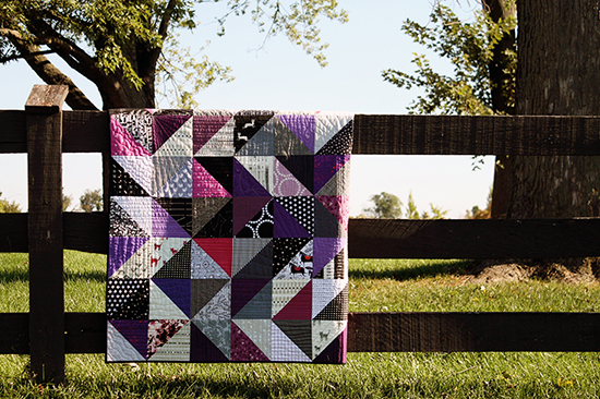 Bust Your Scrap Fabric Stash with a Half-Square Triangle Quilt for Sizzix! by Jessee {an Art School Dropout's life}