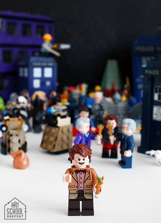Toy Photos: The Doctors Mess by Jessee Maloney {an Art School Dropout's life} #lego #doctorwho