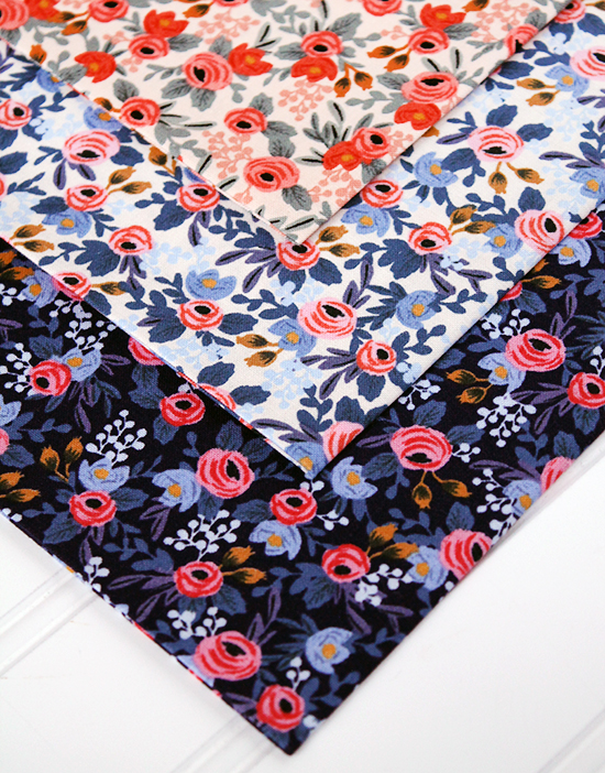 Fabric Stash Friday: Les Fleurs by Rifle Paper Co. from their collaboration with Cotton + Steel Fabrics {an Art School Dropout's life}
