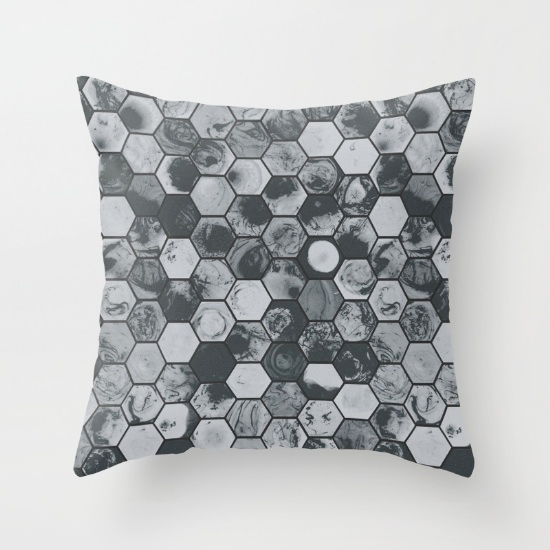 Marbled Hexies Repeat Patterns {an Art School Dropout's life}